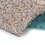 Rasenteppich Farbwunder | Balkonteppich | Robust & witterungsbeständig | Erhältlich in 5 Farben | Kunstrasenteppich für Terrasse, Balkon und Freizeit | Outdoor-Teppich (Beige, 100 x 100 cm)