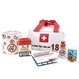 Lustapotheke® Erste Hilfe Tasche zum 18. Geburtstag (6-teilig) als Geschenkidee