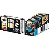Sheba Creamy Snacks - Cremiges Katzen-Leckerli mit je 6X Huhn, Lachs, 1er Pack (1 x 216 g) & Craft Collection – Edles Nassfutter für Katzen – Zarte Stückchen mit Thunfisch und Sauce