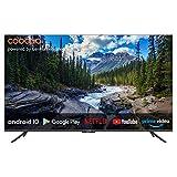 coocaa 50S6G 50 Zoll Smart 4K UHD LED Fernseher (127 cm) mit Android TV (Rahmenloses Design, Triple Tuner, Android 10.0, Netflix, YouTube, Prime Video, HDMI, CI-Slot, USB, Digital Audio)