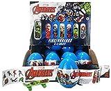 1x Marvel Avengers Überraschungsei | mit Fingerskateboard und Sticker | Kindergeburtstag Mitgebsel | Superhelden Geschenk
