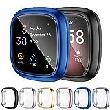 OMEE 6 Stücke Schutzhülle Kompatibel mit Fitbit Sense/Versa 3 Hülle, Vollständige Abdeckung Weiche TPU Cover Case Schutzfolie für Fitbit Sense/Versa 3 Smartwatch