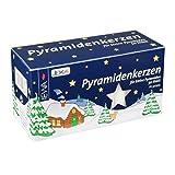 JEKA Pyramidenkerzen 50 Stück weiß
