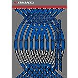 PSLER® Motorrad Felgenrandaufkleber Rim Stripes Aufkleber für ZZR1200 (Blau)