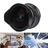 CHICIRIS Fisheye-Objektiv, 7,5 mm spiegelloses Kameraobjektiv, Fisheye Super-Weitwinkel-Mikrofokus-Fens F2.8-Kameraobjektiv für Enthusiast EOS.M Mount