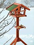 BUSDUGA - Vogelhaus/Futterhaus aus Holz mit Futtersilo 121 x 45 x 30cm, sehr Leichter Aufb