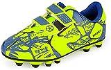 Fußball Schuhe Jungen Fussballschuhe Kinder Halle Stollenschuhe Athletics Trainingsschuhe Junge Kunstrasen Football Shoes Sneaker für Unisex-Kinder Grün 35