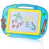TTMOW Zaubertafel Kinder Maltafel mit Magnetische Stempel, Verdicktes Lerntafel Reißbrett Kindergeschenk für Kinder ab 2 ab 3 (Blau)