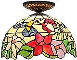 Wtbew-u Deckenleuchte, Badezimmerleuchte Stil Deckenleuchten, Schlafzimmerlampe Art Deco Deckenbeleuchtung mehrfarbige Glas-Flush-Deckenleuchte für Wohnzimmer, Schlafzimmer, Küche, a (Color : A)