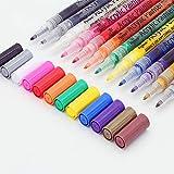 sinzau Acrylstifte Marker Stifte, permanent Marker 12 Farben 0.7mm Strichstärke, ungiftig, zum Bemalen von Steinen, Keramik, Glas, Leinwand, Tassen, Holz und Ostereiern