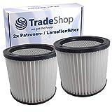 2x Rund-Filter Lamellenfilter Patrone für Aqua Vac 7403B/P/T 74038 7404 7405 7413B/P 7423 8203 B 8204 850 8500 8502 8503 8504 852 8524 900 90035 935
