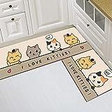 HLXX Haushaltsgitter Bodenmatte Küche Wohnzimmer Schlafzimmer Teppichwäsche rutschfeste Bodenmatte Türmatte A14 40x60cm