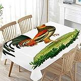 LIUBT Tischdecke, Vintage-Stil, Hahn, Huhn, rechteckig, für Hochzeit, Party, Esszimmer, Picknick, Küche, waschbar, 152 x 228