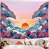 Psychedelische Tapisserie Mandala Wandbehang bunte Muster Yoga Decke nach Hause Hintergrund Stoff Tapisserie A3 130x150