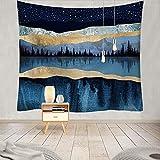 YDyun Wandteppich Wandtuch, Wandbehang Tuch,Baumwolle Wand tucher Multifunktionale Druckserie Sonnenuntergang Landschaftsserie
