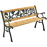 ArtLife Gartenbank Venezia – 2-Sitzer Holzbank mit Armlehnen & Rückenlehne – wetterfeste Sitzbank 122x54x73 cm - Seitenelemente aus Gusseisen