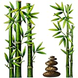 alles-meine.de GmbH 3D Wandsticker _ freie Motivwahl _ für Kinder & Erwachsene - Bambus Pflanze - Strauch - Relief Kunststoff - selbstklebend + wiederverwendbar - Wandtattoo - Au..