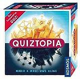 Kosmos 694296 - Quiztopia- Gemeinsam gegen das Spiel, das kooperative Quiz von Marc-Uwe Kling. Wissensspiel ab 16 Jahren, Brettspiel
