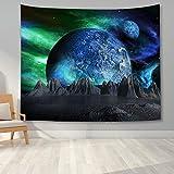 KHKJ Nacht Landschaft Tapisserie Schlafzimmer Dekor Wald Baum Tapisserie Wandbehang Decke für Schlafzimmer Dekor Wohnheim Party Dekor A3 200x180