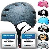 Skullcap® Skaterhelm Erwachsene Anthrazit Crack - Fahrradhelm Herren ab 14 Jahre Größe 55-58 cm - Scoot and Ride Helmet Adult Anthracite - Skater Helm für BMX Inliner Fahrrad Skateboard