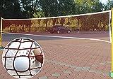 FakeFace Tragbares Tennisnetz Badmintonnetz Outdoor Volleyballnetz Garten Netz für Tennis, Volleyball Badminton Square Wettkampf Trainingsnetz 6.1m*0.76m Nettoloch 2.5 * 2.5cm