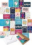 30 Geburtstagskarten im Set - Glückwunschkarten zum Geburtstag für Freunde, Eltern, Erwachsene und Kinder! Happy Birthday Geburtstagskarte! (mit Umschlägen)