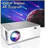 BOMAKER Beamer Full HD 4K, Native 1080P 7200 Beamer, 3D+5D Heimkino Beamer mit ±50°Elektronische Korrektur, 130.000 Stunden, unterstützt TV Stick, dual HDMI, Xbox, Laptop, Smartphone Projektor