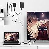 Emoshayoga Konverterkabel HD 1080P VGA zu HDMI Konverter Computer zu TV Kabel VGA zu HDMI Konverterkabel für PC für HDTV für Projektor