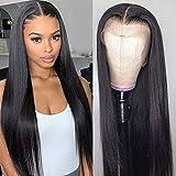 Echthaar perücke Human Hair Middle Lace Front Wig Straight Smooth Natural Hair Echthaarperücken Für Schwarze Frauen Real Remy Brazilian Hair 30.48CM(12 inch, T part straight lace wig)