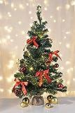 HI Künstlicher Weihnachtsbaum 75 cm Tannenbaum Christbaum Dekobaum beleuchtet und dek