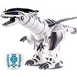 ZHWDD RC Roboter-Dinosaurier, Kinder Intelligent Interactive Toy, elektronische Fernbedienung Dinosaurier, Gehen Tanzen Singen, Programmierbare Roboter Geschenk for Kinder Jungen und Mädchen hefeide