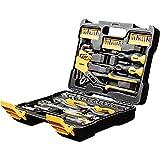 WMC Tools Werkzeugkoffer 61 teilig Werkzeug Set Werkzeugbox Koffer mit Schraubendreher Bits Schraubendreher Ratsche Nuss für Haushalt Kfz Heimwerker Werkzeuge Werkzeugkasten Werkzeugkiste