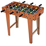 Ejoyous Tischkicker, 69 * 65 * 37 cm Tischfußball Mini Tischplatte Kickertisch Tisch mit Spielstandsanzeige und 2 Fußbälle