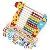 Kisangel Holz Abacus Spielzeug Giraffe Form Abakus Rechenschieber Zählrahmen Lernspielzeug Mathematik Lernhilfe Berechnen Perlen Tool Werkzeug für Kinder Geschenk