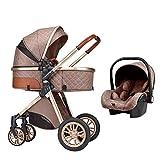 Baby-Reisesystem 3 In 1, Baby-Reisesystem, Kinderwagen-Reisesysteme, Neugeborener Kinderwagen, Neugeborener Autositz, Separater Carrycot, Baby-Kinderwagen-Kinderwagen Für 0-36 Monate Baby-Trolley