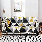 WXQY Eng gewickelte elastische Sofa-Schutzhülle kombinierte rutschfeste Sofabezug Haustierschutz-Sofa-Schutzhülle A13 4-Sitzer