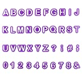 YOUYIKE 40 Teiliges Buchstaben Ausstecher Set, Ausstechformen für Buchstaben, DIY Kuchen Ausstecher Dekoration, Ausstechform Ausstecher mit Buchstaben und Zahlen für Fondant Kuchen Deko