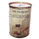 WYZQ Sparbüchse Sparschwein Eisen kann nur in die versiegelten Münzwäschedosen Farbeimer Eimer Sparbüchse Kinder Erwachsene Sparschwein Retro Geschenkkassette (C), Lagerregale