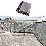 Sonnensegel Sichtschutznetz, Rechteck Schattentuch Block Sonnenschutz Stoff HDPE Atmungsaktiv Draussen Schattensegel Zum Pergola Hinterhof Garten LJAINW (Color : Gray, Size : 4X7M)