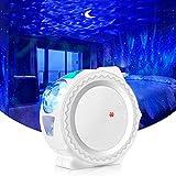 LED-Projektor, Nachttischlampe, wiederaufladbar, Touch-Steuerung, Nachtlicht für Kinder, Ozean, 6 Farben, Dekoration, Schlafzimmer, Wohnzimmer, Geschenk (weiß)