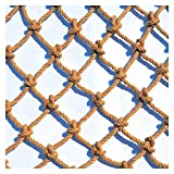 DELIMITE Hanfseilnetz, Kletternetz im Freien, Balkon Schutznetz für Kinderspielzeug Haustiere, Decke Hängende Brücke Dekorative Automotive-Frachtnetze (Size : 1 * 10m(3 * 33ft))
