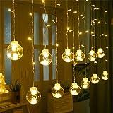 Wandskllss Led-Wunschkugellichter Sternlichter Vorhanglichter Innendekorationslichter Farbwechselbirnen Mehrfarbige Lichterketten WeihnachtsbeleuchtungWarme Farben2.5m