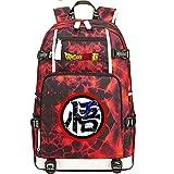 ZZGOO-LL Dragon Ball Son Goku/Vegeta IV/Torankusu Umhängetasche Outdoor-Rucksack für viel Aufbewahrungstasche USB Unisex-G