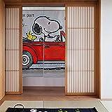 Feinilin Snoopy Vorhang 86,4 x 142,2 cm modische High-End Küche Wohnzimmer Dekoration Wärmedämmung Druck Privatsphäre Geschlossenes Licht