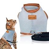 PiuPet® Premium Katzengeschirr mit Leine, 1,20m Katzenleine, Sichere & Robuste Katzengarnitur