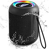 Lautsprecher Bluetooth in Schwarz - Wasserdicht, KATMAI E7-L Tragbarer Bluetooth Box, Sattem Bass, 13h Akku, 33 Ft kabellose Range, Bluetooth Kabelloser Lautsprecher für Badezimmer, Reisen, Party
