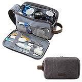 BAGSMART Kulturtasche für Herren, Reise Kulturbeutel Kosmetiktasche mit Doppelter Reißverschlussöffnung, Großer Stauraum, 5L