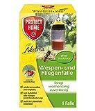 PROTECT HOME Natria Wespen- und Fliegenfalle ideal zur giftfreien Wespenabwehr, nützlingsschonend ohne Insektizide, für draußen (Garten, Terrasse, Balkon), 1 Stück