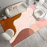 SunYe Rosa Heller Teppich Im Luxusstil, Rechteckiges Sofakissen Für Den Haushalt, Schlafzimmer Mit Bettdecke, Dekorative Decke Für Das Wohnzimmer, rutschfest, Verschleißfest Und Waschbar