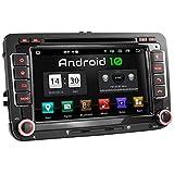 XOMAX XM-10GA Autoradio mit Android 10 passend für VW SEAT Skoda, 2GB RAM, 32GB ROM, GPS Navigation, DVD, CD, USB, SD I Support: WiFi 4G, DAB+, OBD2 I Bluetooth I 7 Zoll / 18 cm Touchscreen